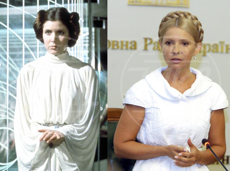 Yulia Tymoshenko, Carrie Fisher - Hollywood - 28-11-2014 - Maeve o Harley Quinn? Quando le star sembrano clonate