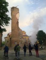 Finale Emilia, Torre Orologio - Finale - 29-05-2012 - Amatrice, l'orologio simbolo del sisma