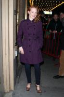 Jessica Chastain - New York - 02-01-2013 - L'inverno è più romantico con il cappotto rosa!