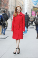 Jessica Chastain - New York - 07-01-2013 - Natale 2014: ritorna il rosso, di sera e anche di giorno