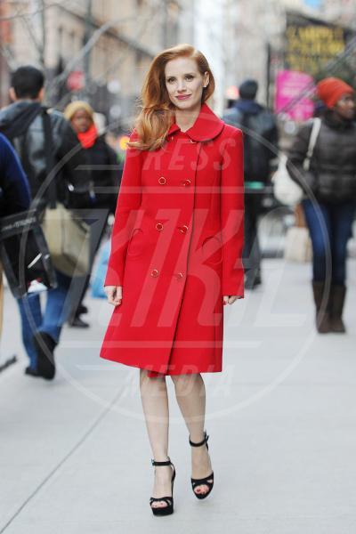 Jessica Chastain - New York - 07-01-2013 - Corto e colorato: ecco il cappotto di primavera