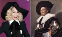 Cavaliere Sorridente, Rita Ora - Los Angeles - 11-04-2013 - Rita Ora come il Cavaliere Sorridente di Frans Hals