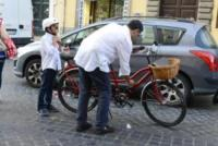 Daniele Timperi, Tiberio Timperi - Roma - 19-06-2013 - Tiberio Timperi in bici insieme al figlio Daniele
