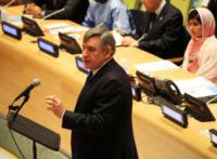 Malala Yousafzai, Gordon Brown - New York - 12-07-2013 - Malala Yousafzai raccoglie la standing ovation dell'Onu