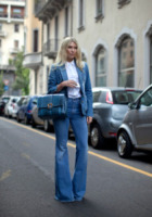 Zhanna Romashka - Milano - 24-09-2013 - Corsi e ricorsi fashion: dagli anni '70 ecco i pantaloni a zampa