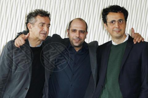 Gennaro Nunziante, Checco Zalone, Pietro Valsecchi - Milano - 30-10-2013 - Checco Zalone porta a Milano un Sole a catinelle