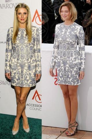 Lea Seydoux, Nicky Hilton - 05-11-2013 - Blue China Print: siamo tutte bambole di porcellana!