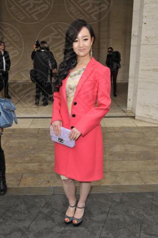 Zhang Meng - New York - 07-02-2013 - L'inverno è più romantico con il cappotto rosa!