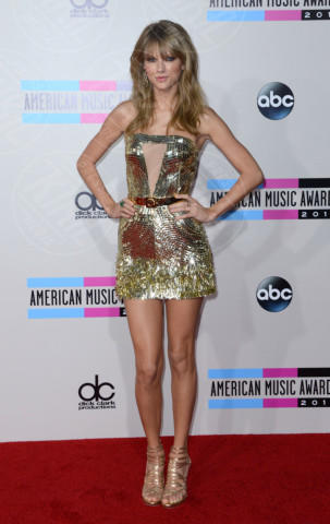 Taylor Swift - Hollywood - 24-11-2013 - Tanto oro per illuminare il Capodanno 2014