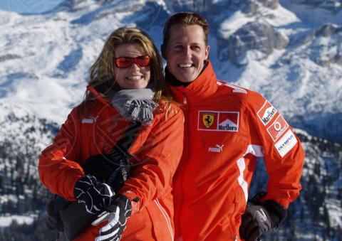 Corinna Betsch, Michael Schumacher - Madonna Di Campiglio - 10-01-2005 - Michael Schumacher uscito dal coma indotto