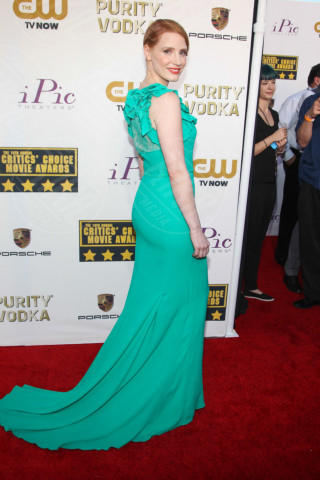 Jessica Chastain - Santa Monica - 16-01-2014 - Vade retro abito! Le scelte ai Critic's Choice Awards