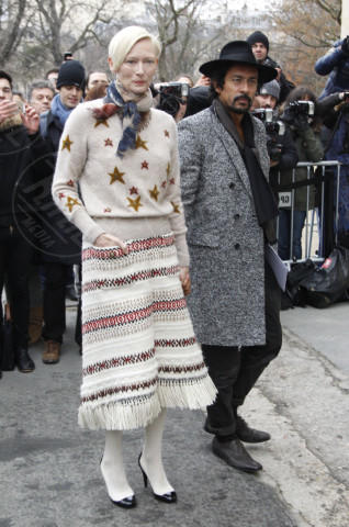 Haider Ackermann, Tilda Swinton - Parigi - 21-01-2014 - Quando le stelle indossano… le stelle!