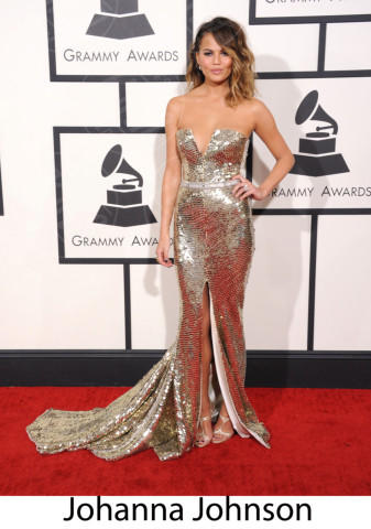 Christine Teigen - Los Angeles - 26-01-2014 - Grammy Awards 2014: gli stilisti sul red carpet