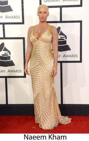 Amber Rose - 26-01-2014 - Grammy Awards 2014: gli stilisti sul red carpet