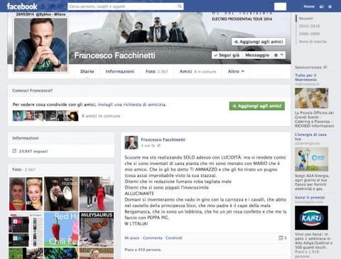 Francesco Facchinetti - Milano - 28-01-2014 - Facebook: offline in tutto il mondo per pochi minuti