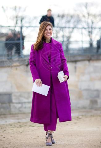 Sofia Guellaty - Parigi - 04-03-2014 - L'inverno è più romantico con il cappotto rosa!