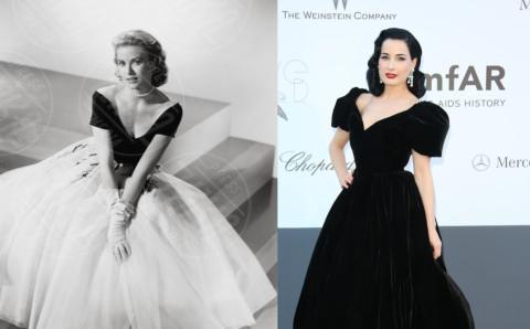 Grace Kelly, Dita Von Teese - 13-03-2014 - Vita stretta e gonna ampia: bentornati anni '50!