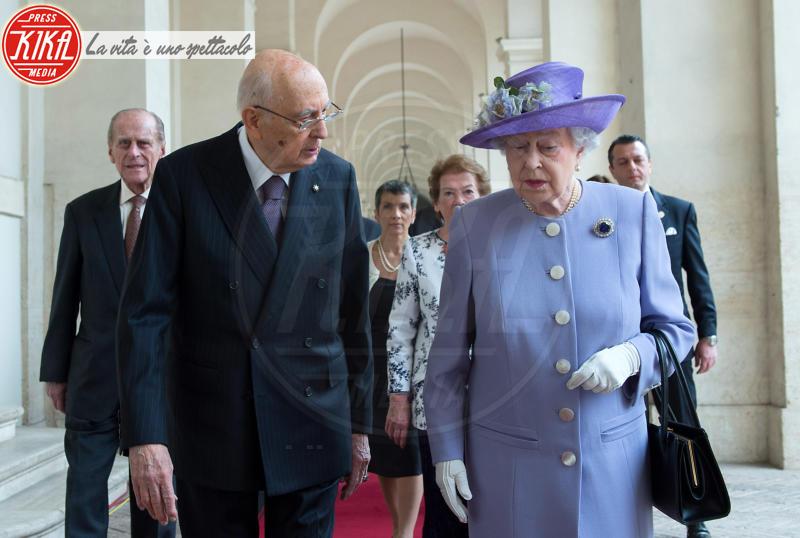 Giorgio Napolitano, Regina Elisabetta II - Roma - 03-04-2014 - Elisabetta II, viola che vince non si cambia!