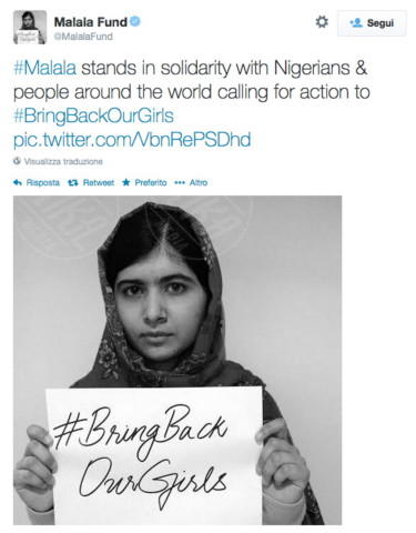 Malala Yousafzai - 08-05-2014 - Il Nobel per la pace a Malala Yousafzai e Kailash Satyarthi