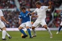 John Bishop, Alessandro Del Piero - Manchester - 08-06-2014 - Alex Del Piero e Robbie Williams in campo per l'Unicef