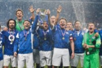 Gordon Ramsey, Edwin Van Der Saar, Edgar Davids, Michael Sheen - Manchester - 08-06-2014 - Alex Del Piero e Robbie Williams in campo per l'Unicef