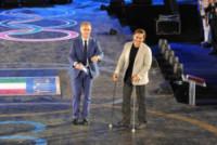 Alex Zanardi, Paolo Bonolis - Roma - 10-06-2014 - Federica Pellegrini osa e Magnini fa il cavaliere