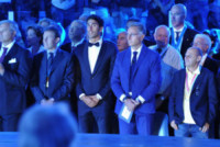 Filippo Magnini, Paolo Bonolis - Roma - 11-06-2014 - Federica Pellegrini osa e Magnini fa il cavaliere