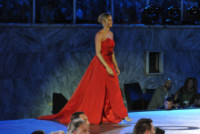Federica Pellegrini, Paolo Bonolis - Roma - 11-06-2014 - Federica Pellegrini osa e Magnini fa il cavaliere