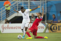 John Brooks, Asamoah Gyan - Natal - 16-06-2014 - Brasile 2014: gli Stati Uniti esordiscono con il Ghana