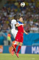 MOHAMMED RABIU, Aron Johannsson - Natal - 16-06-2014 - Brasile 2014: gli Stati Uniti esordiscono con il Ghana