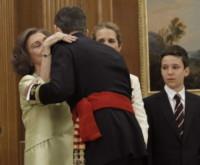 Re Felipe di Borbone, Infanta Elena di Borbone, Sofia di Spagna - Madrid - 19-06-2014 - Felipe VI è il nuovo re di Spagna: trasparenza per la Corona