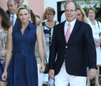 Principe Alberto di Monaco, Principessa Charlene Wittstock - Monte Carlo - 01-09-2014 - La principessa Charlene ha fatto il bis! Sono gemelli!