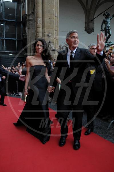 Amal Alamuddin, George Clooney - Firenze - 07-09-2014 - Amal Clooney si è lasciata il sorriso alle spalle...
