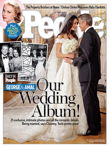 Amal Alamuddin, George Clooney - Venezia - 30-09-2014 - Michelle Hunziker e le altre spose: quale preferite?