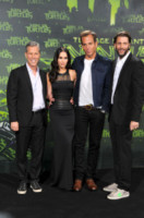 Bradley Brad Fuller, Andrew Form, Megan Fox, Will Arnett - Berlino - 05-10-2014 - Megan Fox: una femme fatale in nero per le Tartarughe Ninja