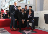 Maurice Starr, Jonathan Knight, Danny Wood, New Kids on the Block, Donnie Wahlberg, Joey McIntyre, Jordan Knight - Hollywood - 09-10-2014 - La stella dei New Kids on the Block brilla sulla Walk of Fame