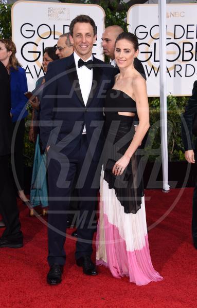 Alexi Ashe, Seth Meyers - Beverly Hills - 11-01-2015 - Golden Globe 2015: va in scena il gioco delle coppie