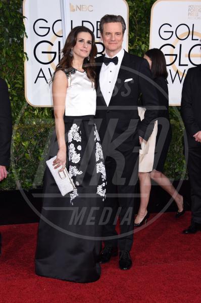 Livia Firth, Colin Firth - Beverly Hills - 12-01-2015 - Golden Globe 2015: va in scena il gioco delle coppie