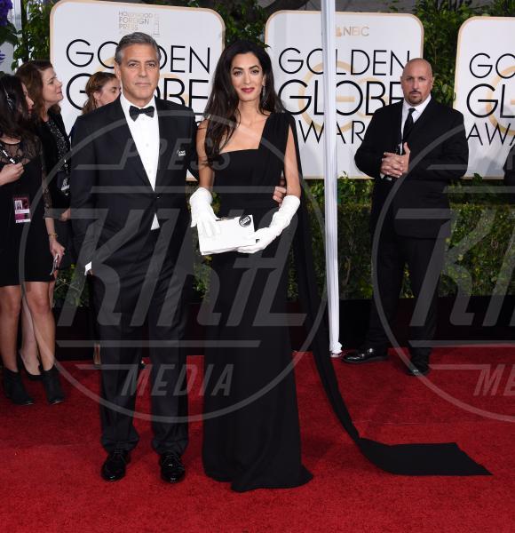 Amal Alamuddin, George Clooney - Beverly Hills - 12-01-2015 - Golden Globe 2015: va in scena il gioco delle coppie