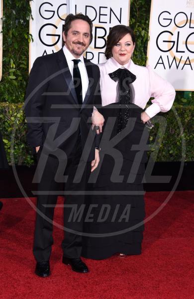 Ben Falcone, Melissa McCarthy - Beverly Hills - 11-01-2015 - Golden Globe 2015: va in scena il gioco delle coppie