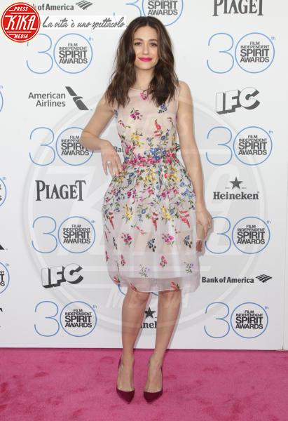 Emmy Rossum - Santa Monica - 21-02-2015 - L'abito della bella stagione? Il corolla dress, sexy e bon ton!