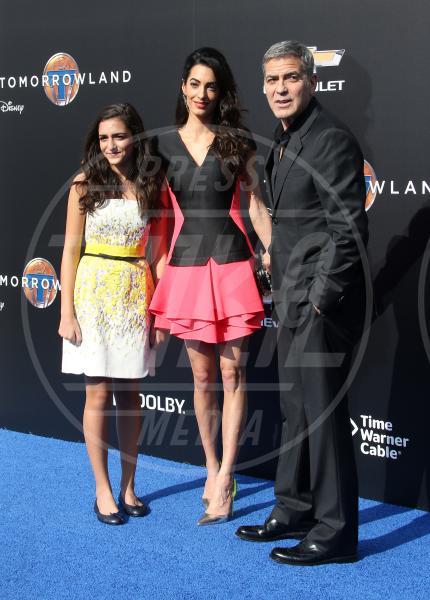 Mia Alamuddin, Amal Alamuddin, George Clooney - Anaheim - 09-05-2015 - Clooney-Alamuddin: siamo già una famiglia…allargata