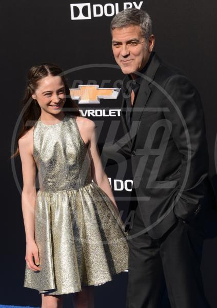 Raffey Cassidy, George Clooney - Los Angeles - 09-05-2015 - Clooney-Alamuddin: siamo già una famiglia…allargata