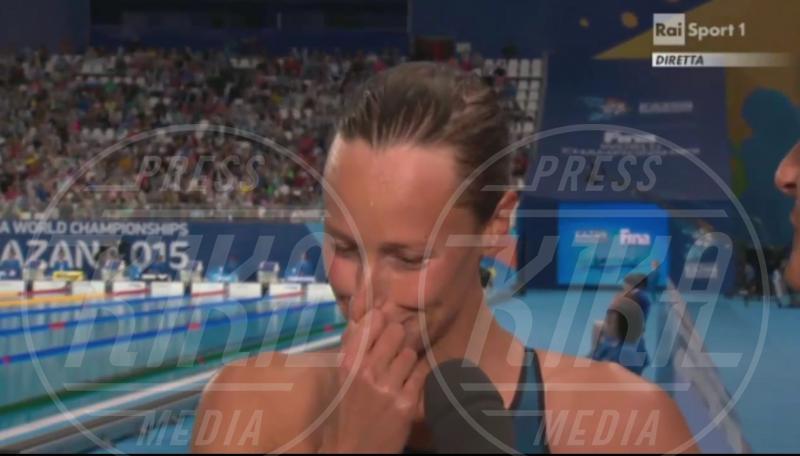 Federica Pellegrini - Kazan - 06-08-2015 - Federica Pellegrini, lacrime di gioia per l'argento ai Mondiali