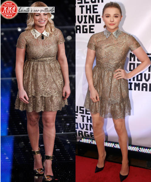 Chloe Grace Moretz, Emma Marrone - 24-09-2015 - Sanremo contro Hollywood: chi lo indossa meglio?