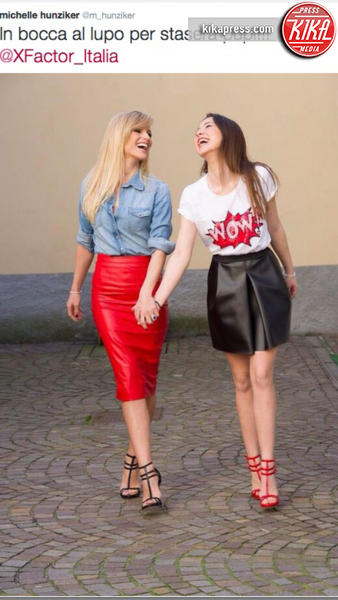 Aurora Ramazzotti, Michelle Hunziker - Milano - 23-10-2015 - X Factor Daily: Aurora Ramazzotti al debutto sul piccolo schermo
