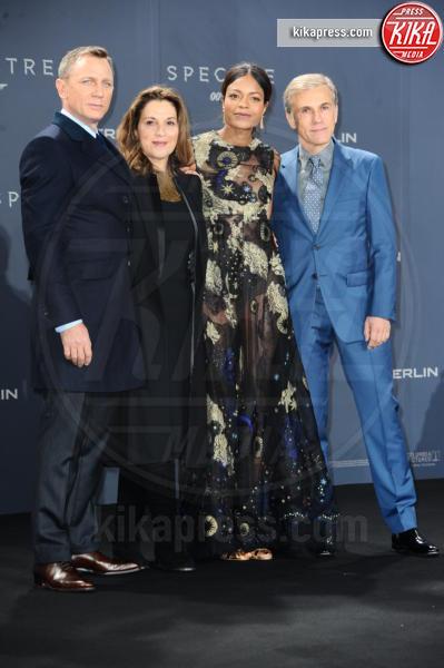 Barbara Broccoli, Christoph Waltz, Naomie Harris, Daniel Craig - Berlino - 28-10-2015 - Rami Malek sarà il villain del prossimo James Bond