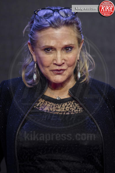 Carrie Fisher - Londra - 16-12-2015 - Star Wars 8: nel cast anche Benicio Del Toro e Laura Dern