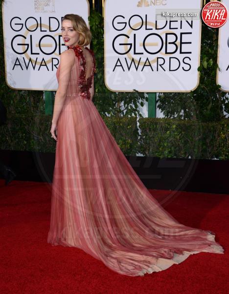 2016 -, Amber Heard - Beverly Hills - 10-01-2016 - Golden Globe 2016: le dive fronte e retro
