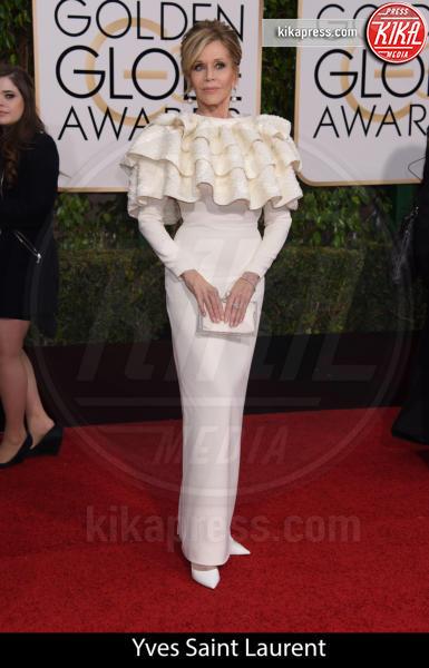Jane Fonda - Beverly Hills - 10-01-2016 - Golden Globe 2016: gli stilisti sul red carpet